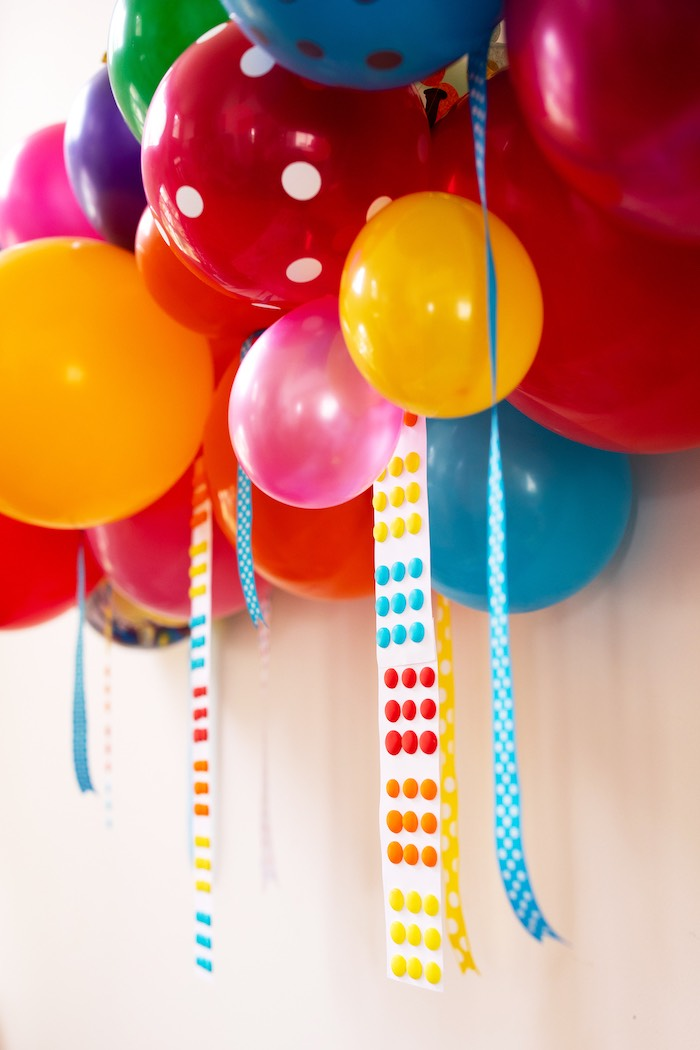 Hanging Candy Melt Paper Tassels from a Wreck-it-Ralph Birthday Party on Kara's Party Ideas | KarasPartyIdeas.com (18)