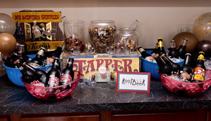 Root Beer Bar from a Wreck-it-Ralph Birthday Party on Kara's Party Ideas | KarasPartyIdeas.com (16)