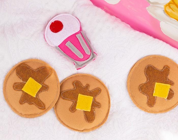 Milkshake/Pancake bean bags from a Wreck-it-Ralph Birthday Party on Kara's Party Ideas | KarasPartyIdeas.com (14)