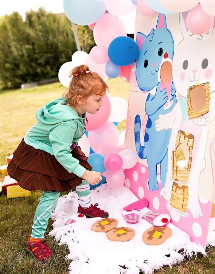 Milkshake/Pancake bean bag toss game from a Wreck-it-Ralph Birthday Party on Kara's Party Ideas | KarasPartyIdeas.com (13)