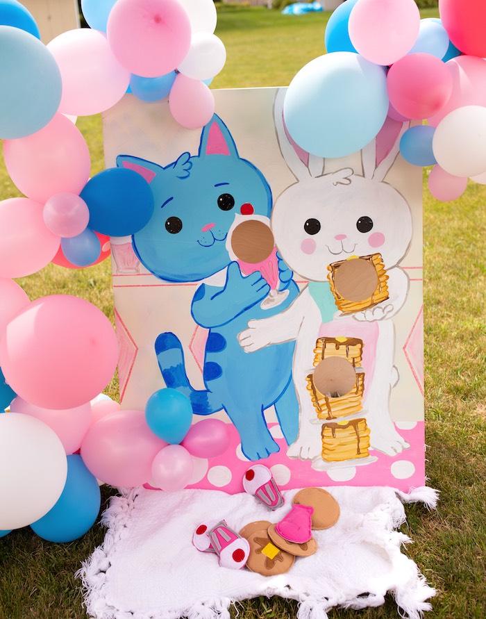 Milkshake/Pancake bean bag toss game from a Wreck-it-Ralph Birthday Party on Kara's Party Ideas | KarasPartyIdeas.com (12)