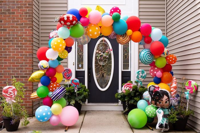 Balloon Arch Entrance from a Wreck-it-Ralph Birthday Party on Kara's Party Ideas | KarasPartyIdeas.com (7)
