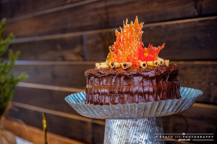 Camp Fire Cake from a Camping Birthday Party on Kara's Party Ideas | KarasPartyIdeas.com (15)