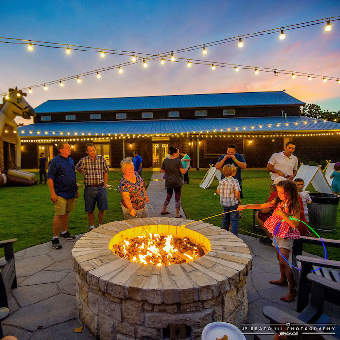 Fire Pit from a Camping Birthday Party on Kara's Party Ideas | KarasPartyIdeas.com (7)