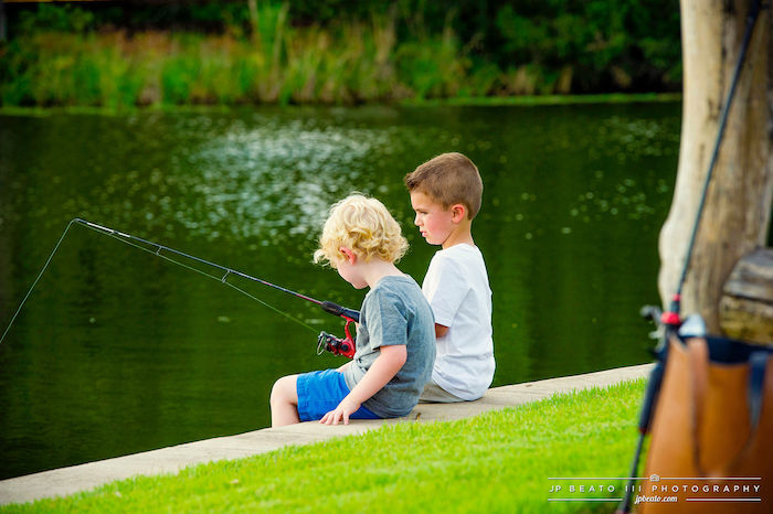 Little Fishermen from a Camping Birthday Party on Kara's Party Ideas | KarasPartyIdeas.com (20)