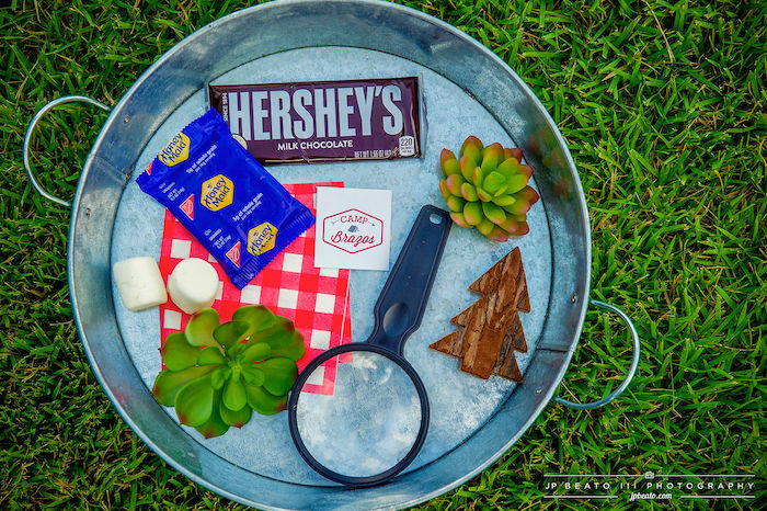 Camp Themed Party Details from a Camping Birthday Party on Kara's Party Ideas | KarasPartyIdeas.com (19)