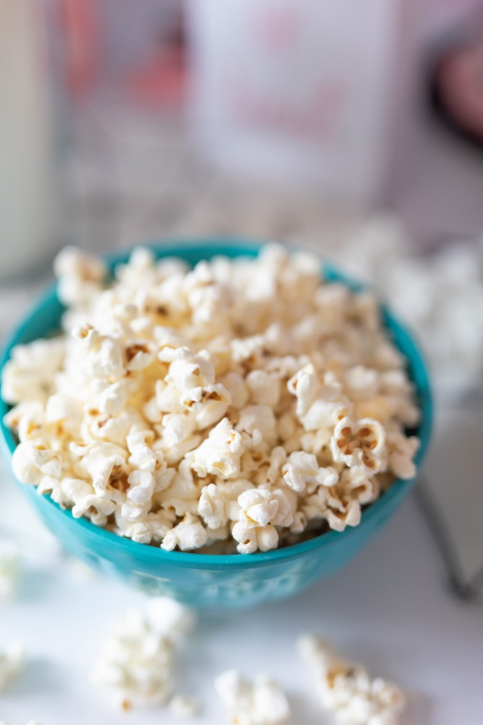 "Popcorn from a ""Ghouls Night In"" Pink Halloween Party on Kara's Party Ideas 