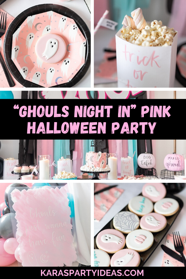 """Ghouls Night In"" Pink Halloween Partyvia Kara's Party Ideas - KarasPartyIdeas.com"