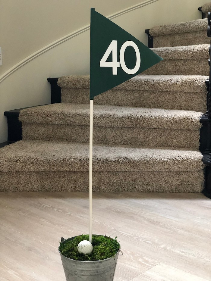 Golf Flag + Bucket Decoration from a Caddyshack Inspired Golf Birthday Party on Kara's Party Ideas | KarasPartyIdeas.com (7)