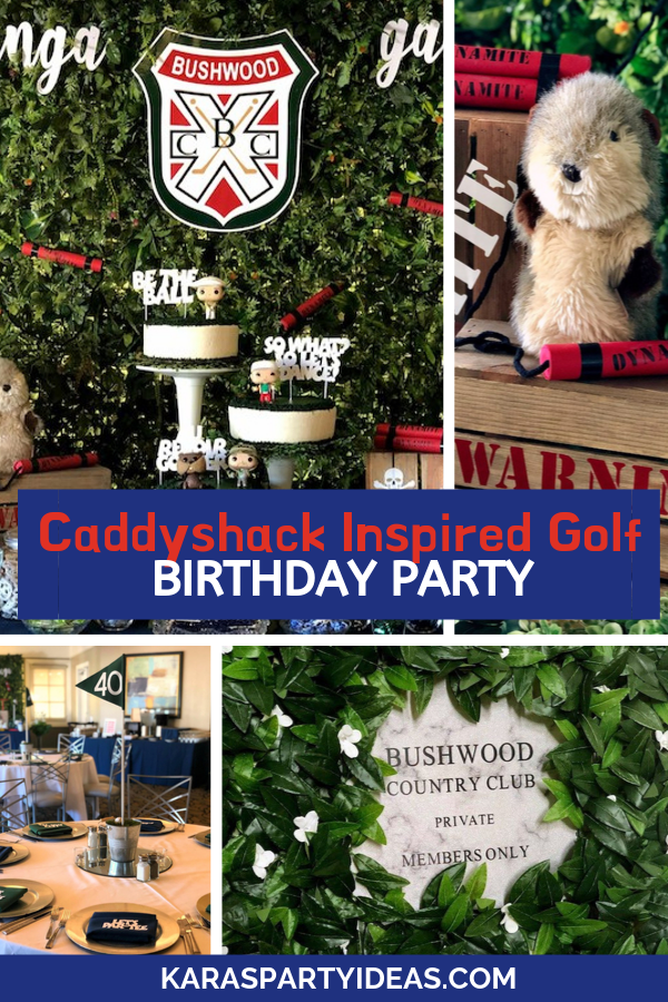 Caddyshack Inspired Golf Birthday Party via Kara's Party Ideas - KarasPartyIdeas.com