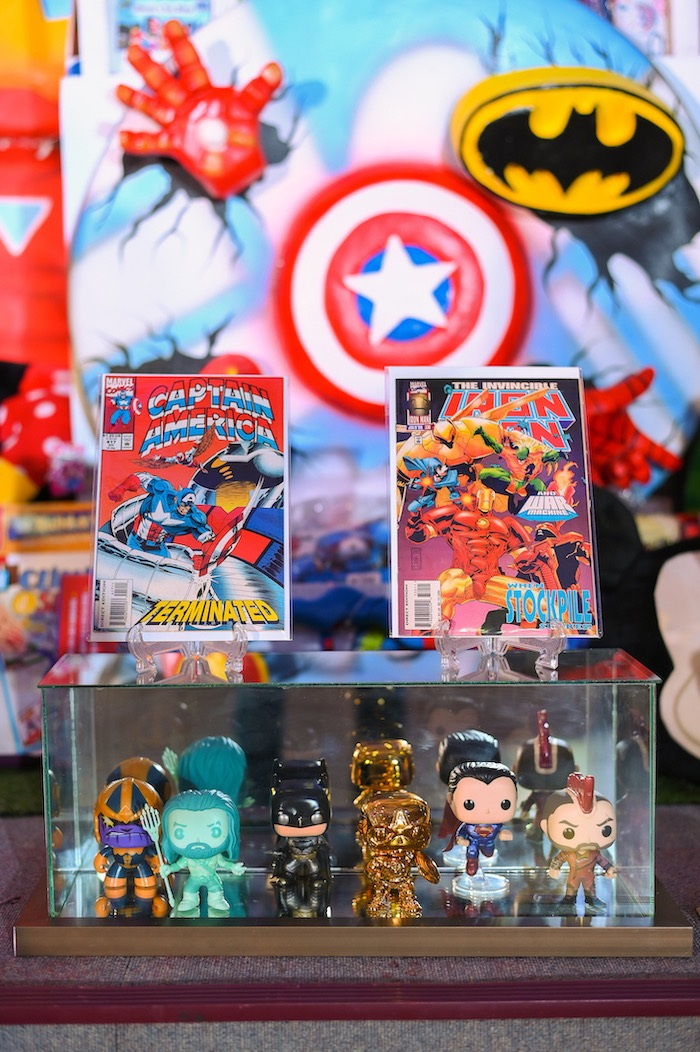 Superhero Figurines + Collectibles from a DC vs Marvel: Battle of the Universe Superhero Birthday Party on Kara's Party Ideas | KarasPartyIdeas.com (16)