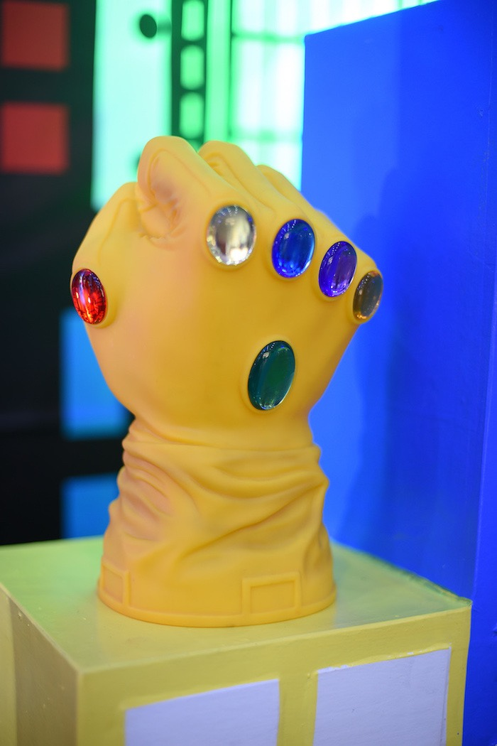 Infinity Gauntlet Prop from a DC vs Marvel: Battle of the Universe Superhero Birthday Party on Kara's Party Ideas | KarasPartyIdeas.com (8)