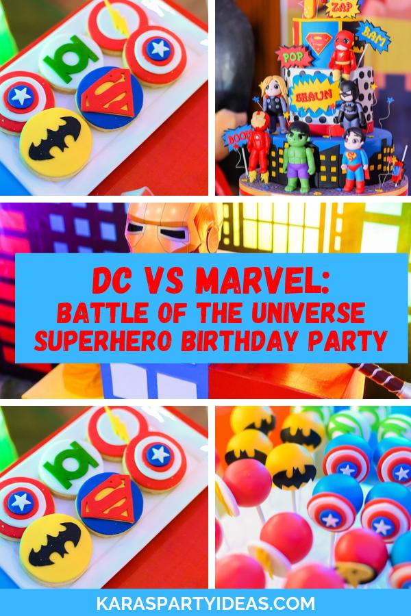 DC vs Marvel_ Battle of the Universe Superhero Birthday Party via Kara's Party Ideas - KarasPartyIdeas.com