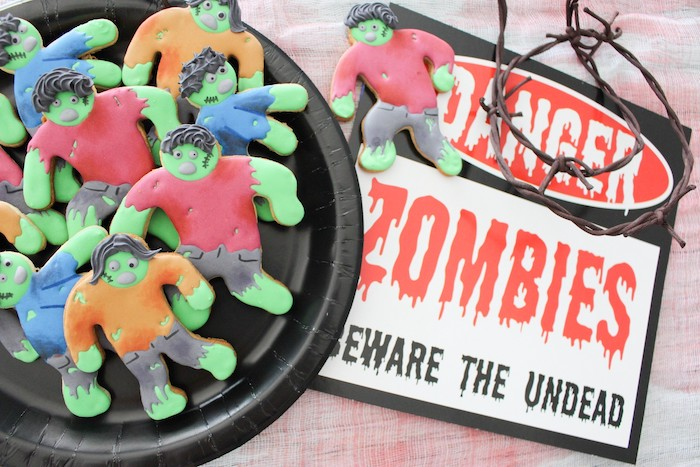 DIY Zombie Halloween Cookies on Kara's Party Ideas | KarasPartyIdeas.com (5)