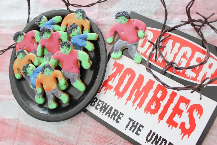 DIY Zombie Halloween Cookies on Kara's Party Ideas | KarasPartyIdeas.com (4)
