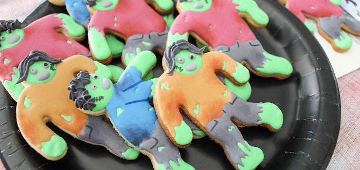 DIY Zombie Halloween Cookies on Kara's Party Ideas | KarasPartyIdeas.com (1)