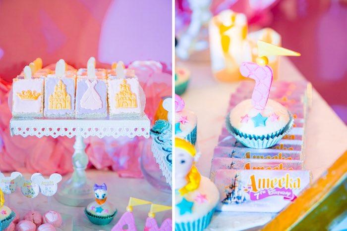 Princess Themed Rice Crispy Treats + Candy Bars from a Disneyland Princesses Birthday Party on Kara's Party Ideas | KarasPartyIdeas.com (20)