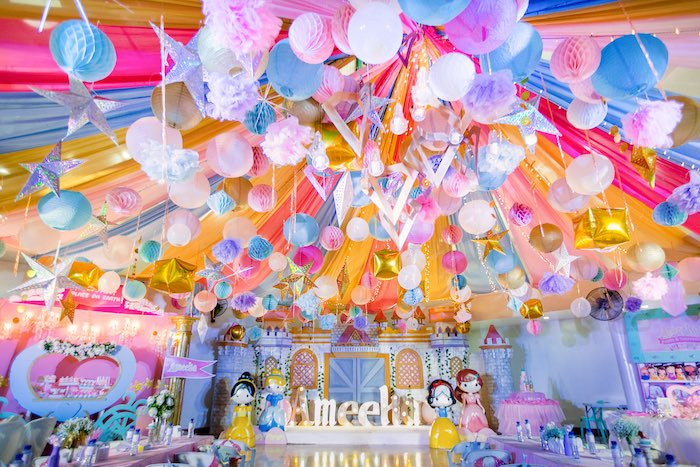 Disneyland Princesses Birthday Party on Kara's Party Ideas | KarasPartyIdeas.com (35)