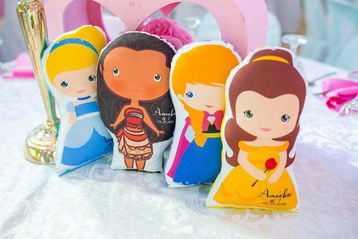 Mini Plush Princess Pillows from a Disneyland Princesses Birthday Party on Kara's Party Ideas | KarasPartyIdeas.com (16)