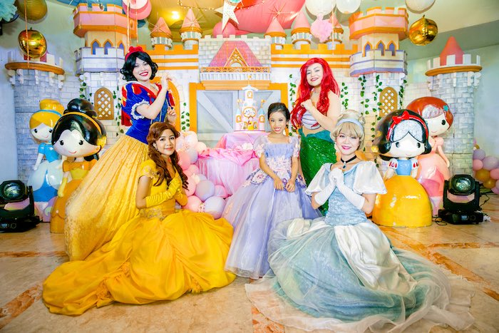 Disney Princesses from a Disneyland Princesses Birthday Party on Kara's Party Ideas | KarasPartyIdeas.com (6)