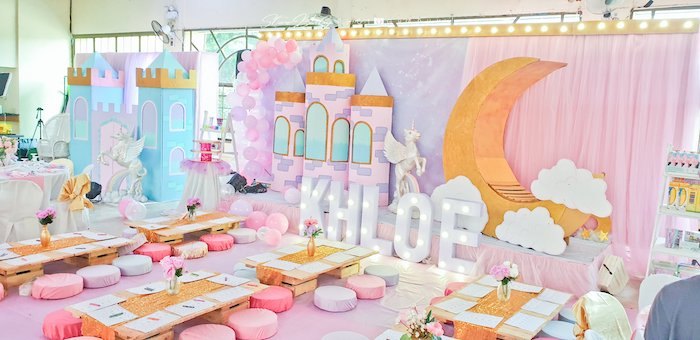 Low-seated Kid Tables from a Dreamy Unicorn Birthday Party on Kara's Party Ideas | KarasPartyIdeas.com (14)