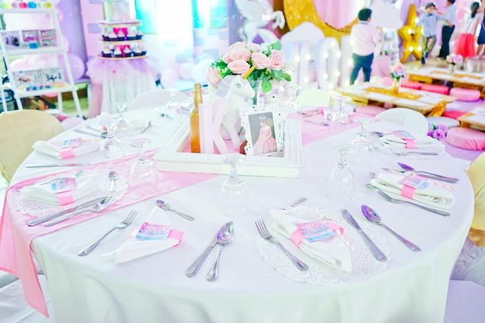 Unicorn Themed Party Table from a Dreamy Unicorn Birthday Party on Kara's Party Ideas | KarasPartyIdeas.com (13)