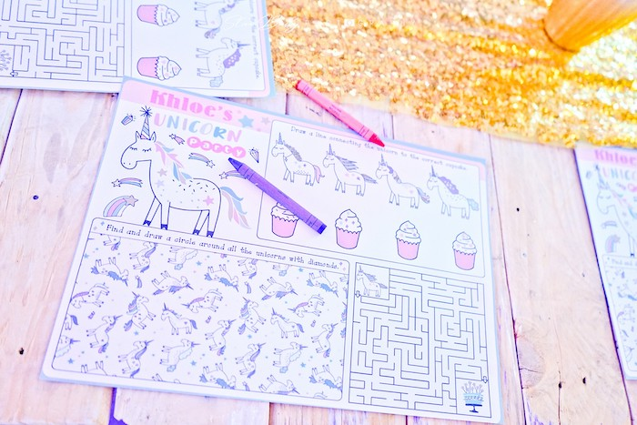 Unicorn Activity Page from a Girls Birthday Party on Kara's Party Ideas | KarasPartyIdeas.com (12)