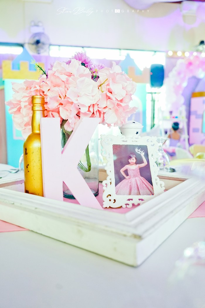 Unicorn Themed Table Centerpiece from a Dreamy Unicorn Birthday Party on Kara's Party Ideas | KarasPartyIdeas.com (11)