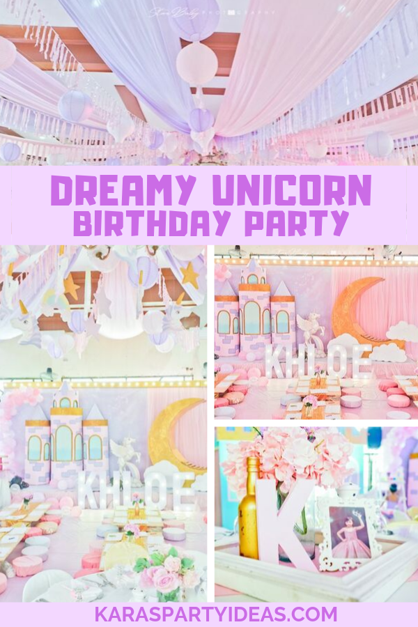 Dreamy Unicorn Birthday Party via Kara's Party Ideas - KarasPartyIdeas.com