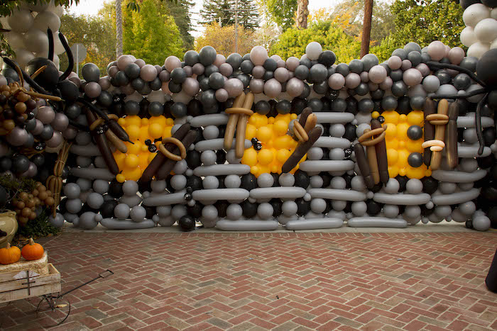 Halloween Balloon Wall from an Enchanting Backyard Halloween Party on Kara's Party Ideas | KarasPartyIdeas.com (5)