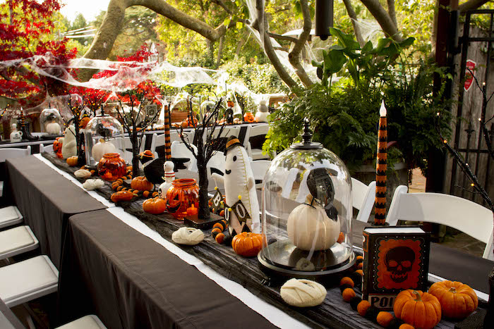 Halloween Party Tablescape from an Enchanting Backyard Halloween Party on Kara's Party Ideas | KarasPartyIdeas.com (16)