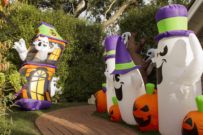 Inflatable Ghost Walkway from an Enchanting Backyard Halloween Party on Kara's Party Ideas | KarasPartyIdeas.com (13)