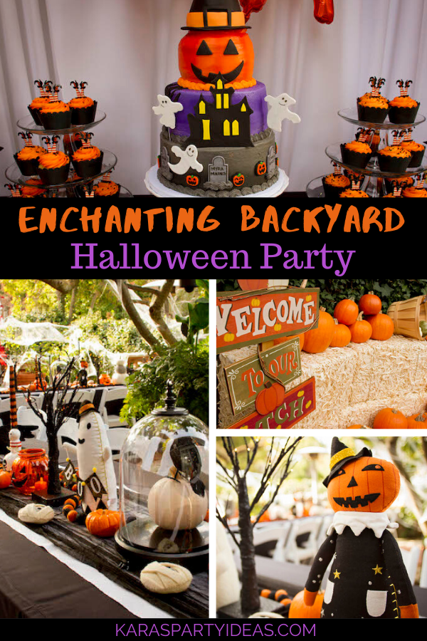Enchanting Backyard Halloween Party via Kara's Party Ideas - KarasPartyIdeas.com