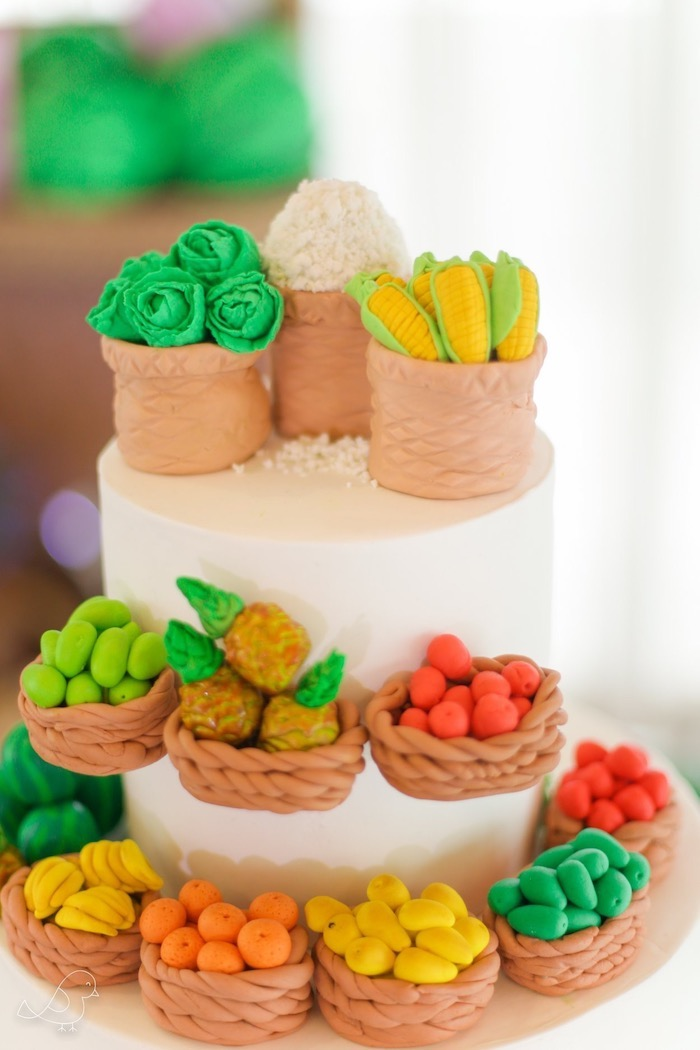 Farmers Market Themed Cake from a Farmers Market Birthday Party on Kara's Party Ideas | KarasPartyIdeas.com (7)