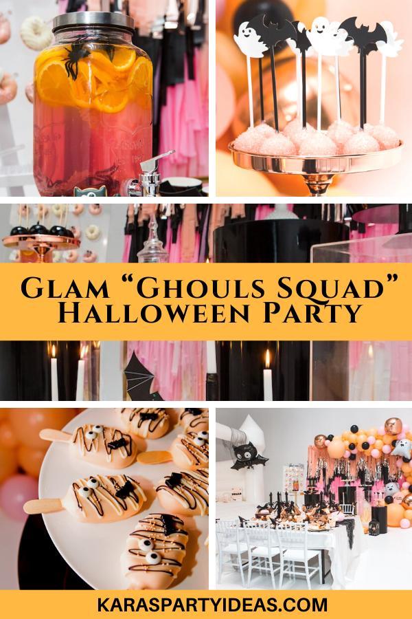 "Glam ""Ghouls Squad"" Halloween Party via Kara's Party Ideas - KarasPartyIdeas.com"
