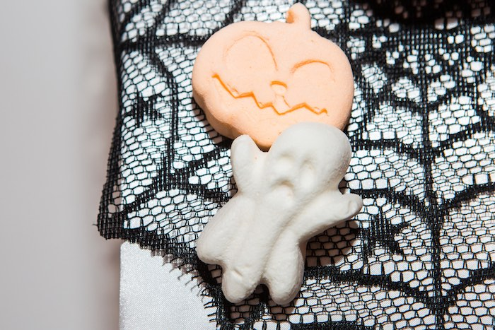"""Halloween Character Marshmallows from a Glam """"Ghouls Squad"""" Halloween Party on Kara's Party Ideas 