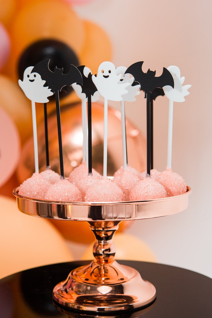 """Halloween Cake Pops from a Glam """"Ghouls Squad"""" Halloween Party on Kara's Party Ideas 