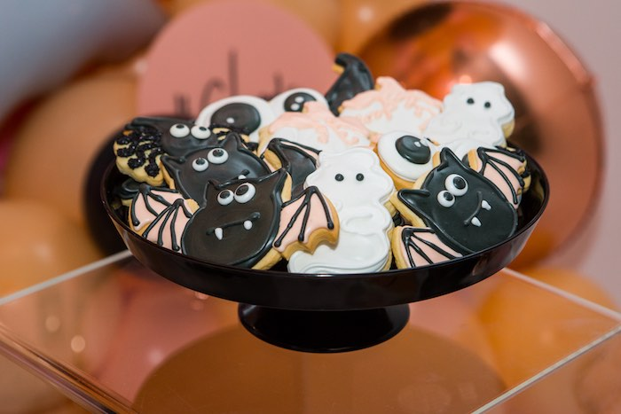 """Halloween Creature Sugar Cookies from a Glam """"Ghouls Squad"""" Halloween Party on Kara's Party Ideas 