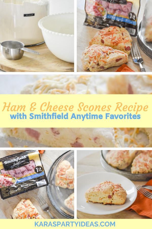 Ham & Cheese Scones Recipe with Smithfield Anytime Favoritesvia Kara's Party Ideas - KarasPartyIdeas.com