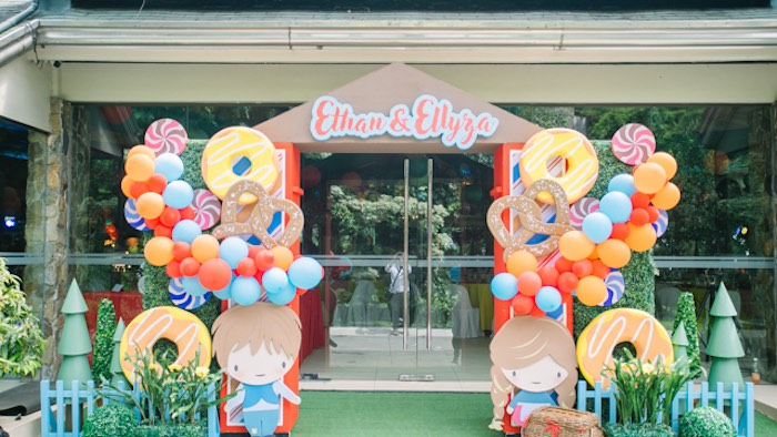 Candy House Themed Entrance Arch from a Hansel & Gretel Inspired Birthday Party on Kara's Party Ideas | KarasPartyIdeas.com (30)