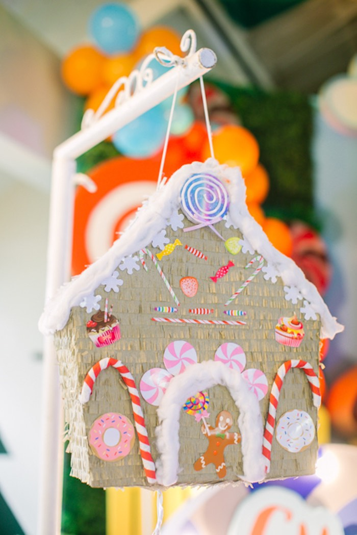 Candy House Pinata from a Hansel & Gretel Inspired Birthday Party on Kara's Party Ideas | KarasPartyIdeas.com (29)