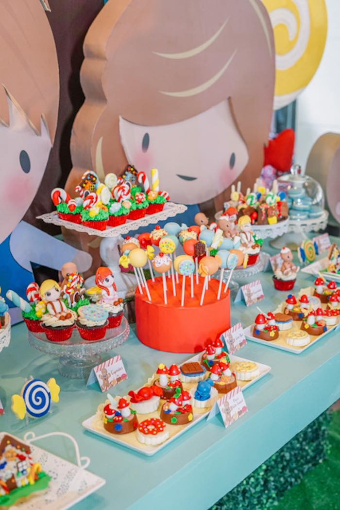 Candy-inspired Dessert Table from a Hansel & Gretel Inspired Birthday Party on Kara's Party Ideas | KarasPartyIdeas.com (17)