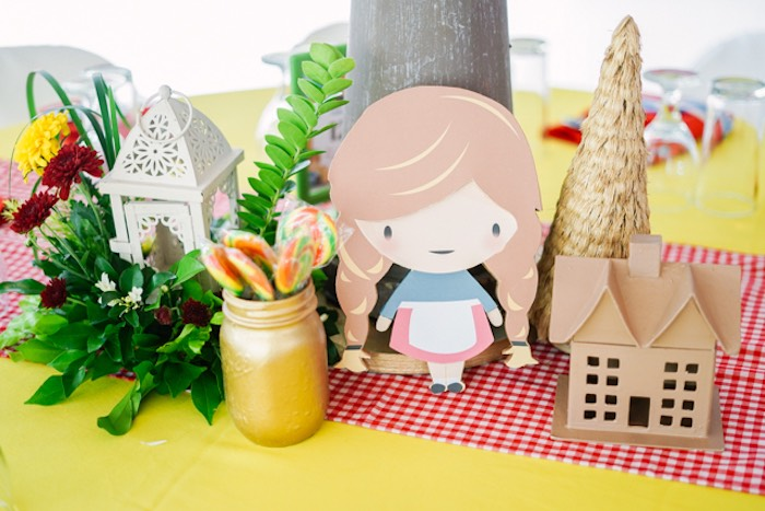 Gretel Themed Guest Table + Centerpiece from a Hansel & Gretel Inspired Birthday Party on Kara's Party Ideas | KarasPartyIdeas.com (41)