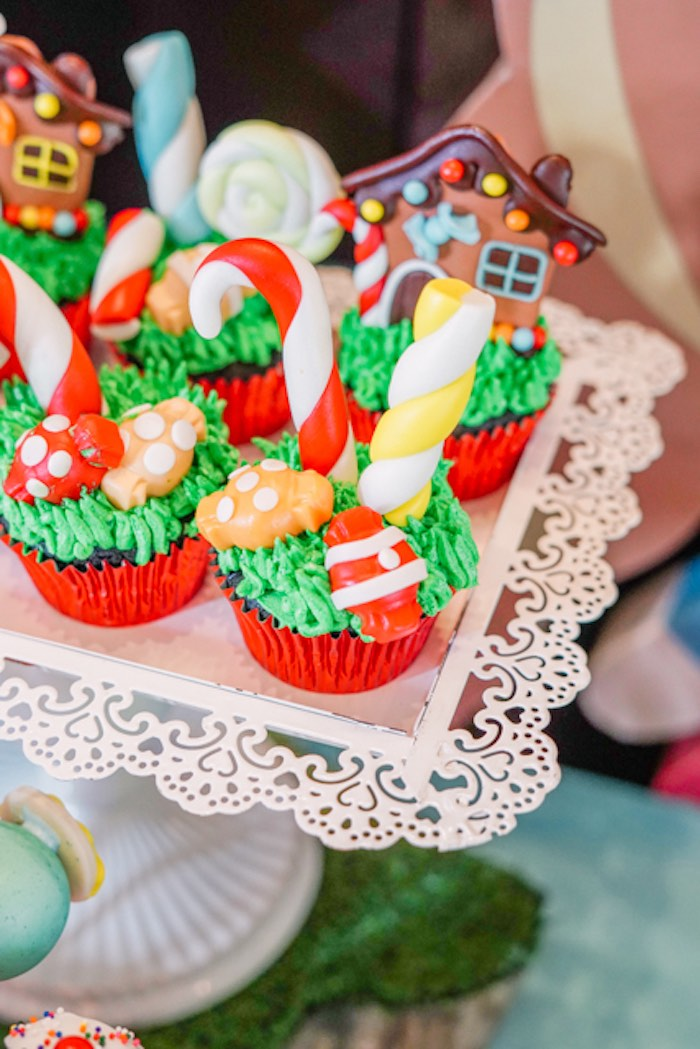 Candy Themed Cupcakes from a Hansel & Gretel Inspired Birthday Party on Kara's Party Ideas | KarasPartyIdeas.com (13)