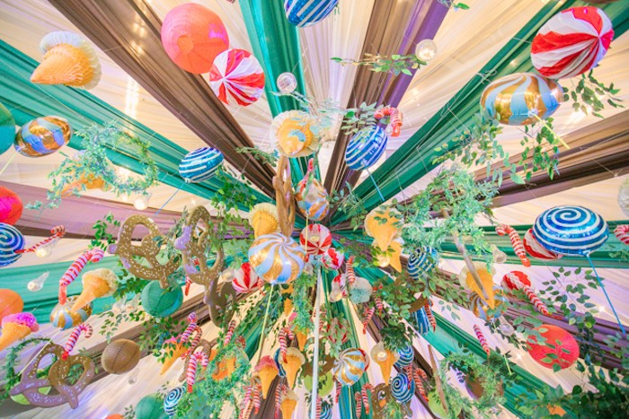 Candy-inspired Ceiling from a Hansel & Gretel Inspired Birthday Party on Kara's Party Ideas | KarasPartyIdeas.com (38)
