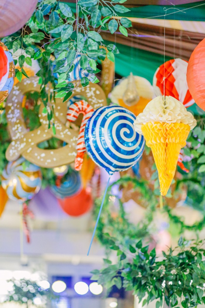 Candy + Sweet-inspired Decorations/Ceiling from a Hansel & Gretel Inspired Birthday Party on Kara's Party Ideas | KarasPartyIdeas.com (34)