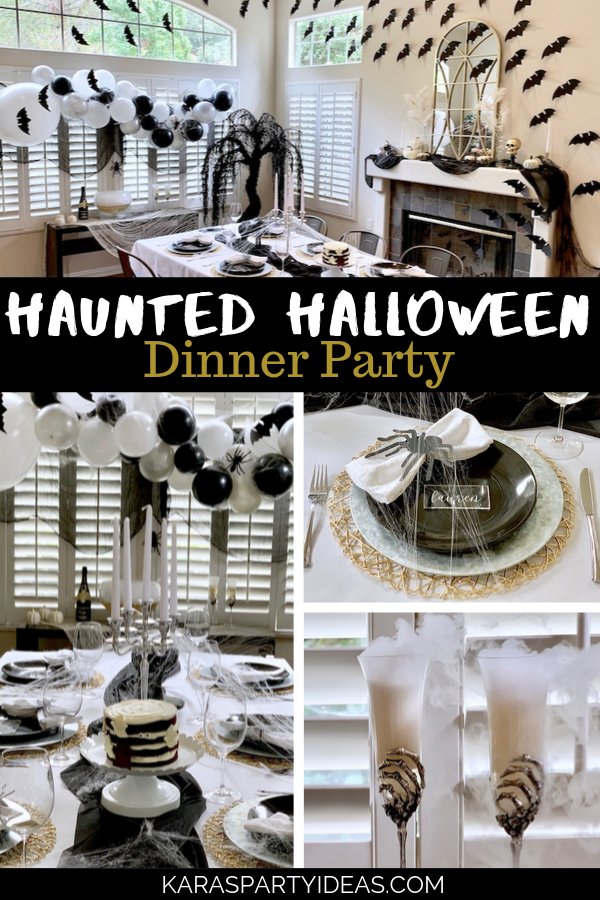 Haunted Halloween Dinner Party via Kara's Party Ideas - KarasPartyIdeas.com