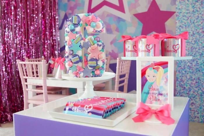 Mini Party Table from a JoJo Siwa Inspired Birthday Party on Kara's Party Ideas | KarasPartyIdeas.com (6)