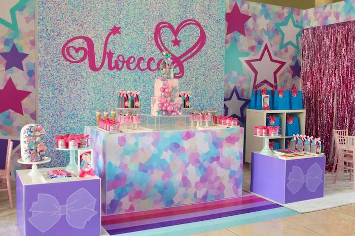 JoJo Siwa Dessert Spread from a JoJo Siwa Inspired Birthday Party on Kara's Party Ideas | KarasPartyIdeas.com (15)