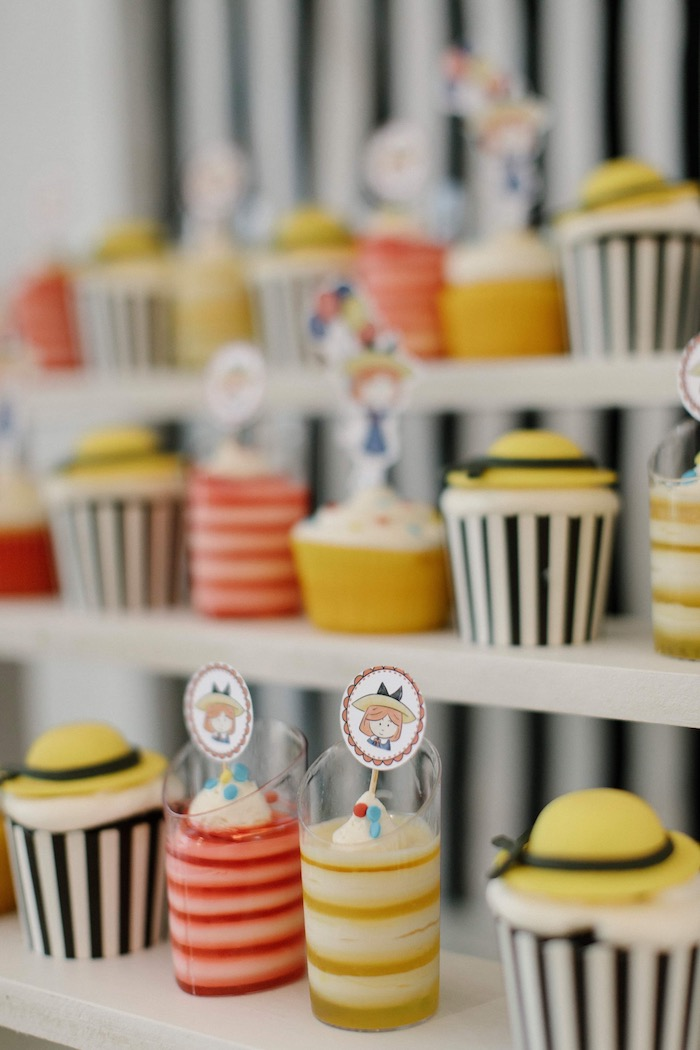 Madeline-inspired Cupcakes from a Madeline in Paris Inspired Birthday Party on Kara's Party Ideas | KarasPartyIdeas.com (25)